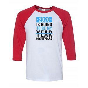 Men's TO BE MY YEAR 3/4 Sleeve Baseball Tee